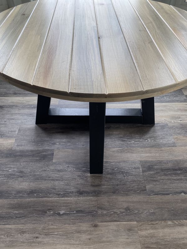 Farmhouse Modern Round Table Custom Sizes Available