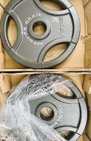 NEW SET OF 25 lb weights plates for Sale in Sunrise, FL