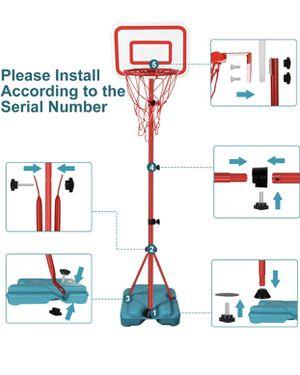 Kids Basketball Hoop Stand Adjustable Height 2.9 ft -6.2 ft Indoor Basketball Hoop for Sale in Colonial Heights, VA