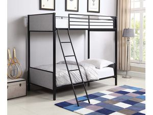 Amazing black and Gray upholstered bunk bed for Sale in Nashville, TN