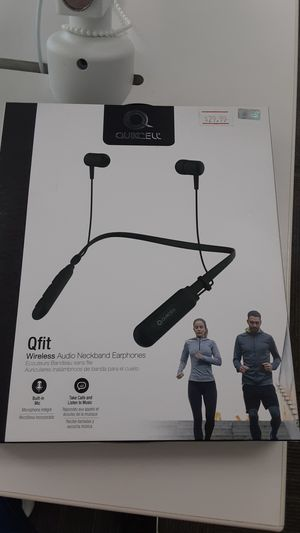 Qfit Wireless Audio Neckband Earphones!! Built-in Mic, Take Calls and Listen to Music!! for Sale in San Angelo, TX