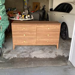 Modern Wood Dresser - Gold Knobs for Sale in Kirkland,  WA