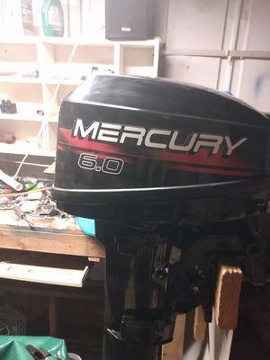 99 Merc 6 horsepower 2-stroke runs good approximately 15 to 20 hours on it for Sale in Las Vegas, NV