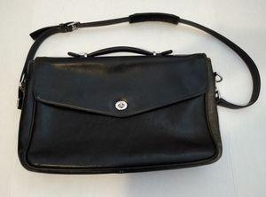 Coach Laptop bag Briefcase Shoulder Messenger Bag Black Leather for Sale in McKnight, PA