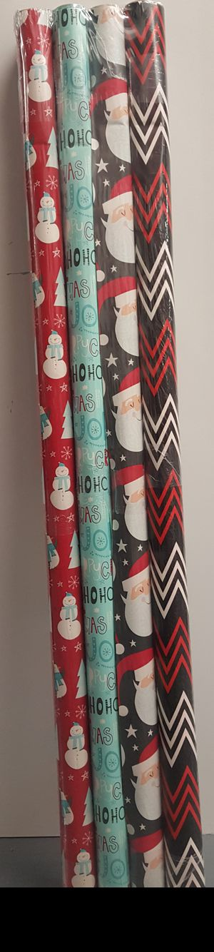 Christmas wrapping paper 3 ft 4.5 in for Sale in Passaic, NJ