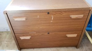 Wood office file cabinet for Sale in Renton, WA