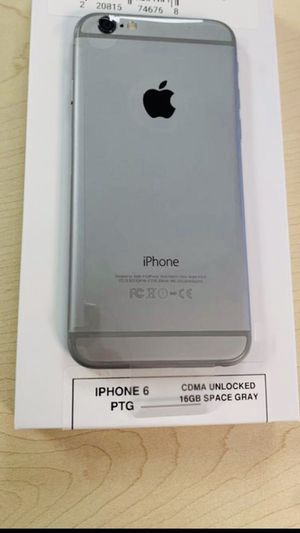 Factory unlocked iPhone 6 gray for Sale in Plano, TX