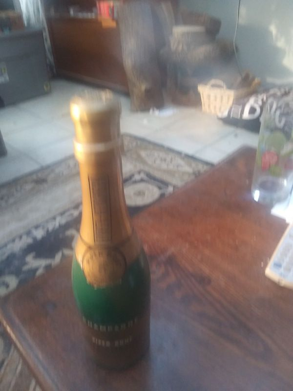 Champagne bottle radio