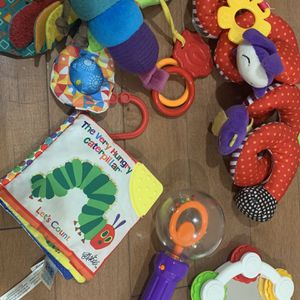 Multiple Car Seat And Stroller Toys , Cloth Book- Like New for Sale in Bothell, WA