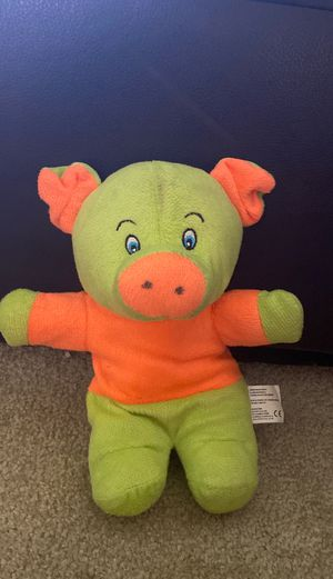 Green and orange stuffed pig for Sale in Show Low, AZ