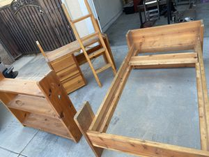 Wooden Twin Bed Set ( Can be turned into bunk) for Sale in Riverside, CA