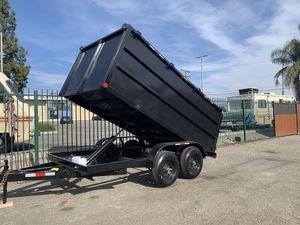 Dump trailer 8x12x4 12000lb gvw $5250 cash not finance for Sale in Fresno, CA