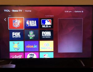 "Like new 55"" TCL smart TV cwith Roku TV for Sale in Arcadia, CA"