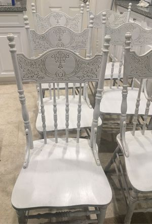 Wood Chairs (6) for Sale in Cherry Valley, CA