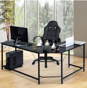 Computer Desk Corner PC Laptop Gaming Table Workstation Office Black (L Shape) for Sale in Los Angeles, CA