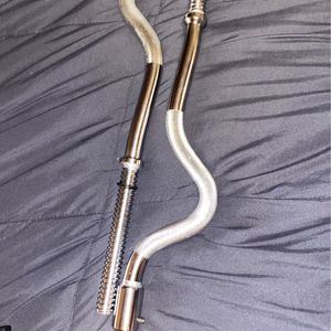2 piece chrome curl bar for Sale in Chicago, IL