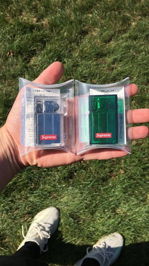 Supreme Pearl and Green Tsubota Zippo Lighter Set for Sale in Parma, OH