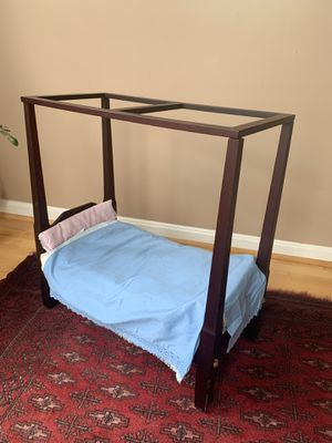Vintage Authentic American Girl Doll brand Four-Poster bed for Sale in Centreville, VA
