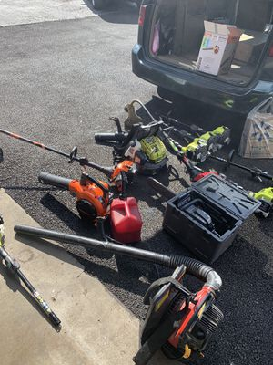 Weed eater chainsaw leaf blower for Sale in Columbus, OH