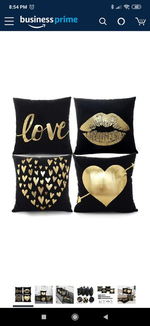 Throw Pillow Covers- -4pc BLACK for Sale in Deerfield Beach, FL