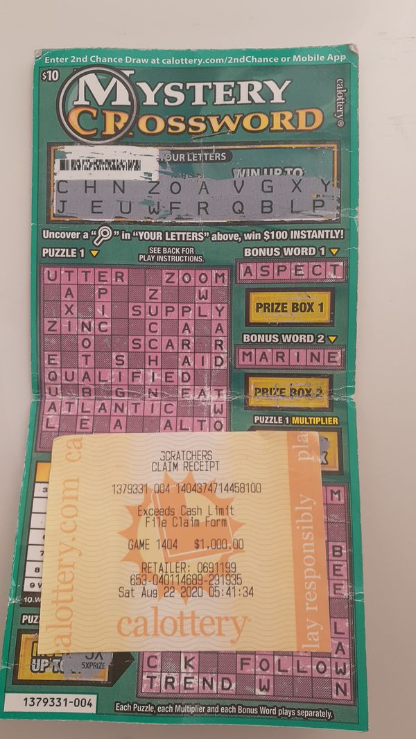$1000 LOTTERY TICKET FOR $700