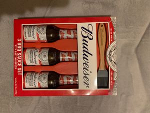 Budweiser 3 BBQ Sauce Set for Sale in Jersey Shore, PA