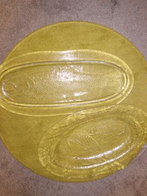 2 large glass platters for Sale in Alexandria, VA