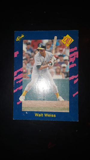Collectible baseball card Walt Weiss for Sale in Fresno, CA