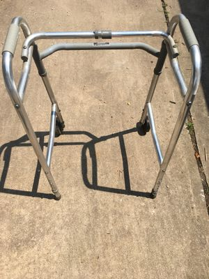 Drive Medical Deluxe Two-Button Folding Walker with Wheels in Silver for Sale in Baltimore, MD