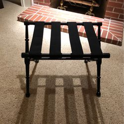 Foldable black luggage rack for Sale in Newberg,  OR