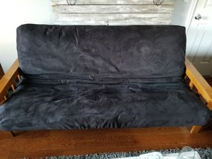 Wooden futon with mattress for Sale in Vancouver, WA