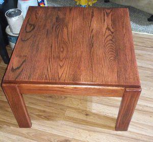 Oak End Table for Sale in Wichita, KS
