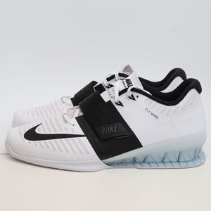 (13) Nike Romaleos 3 Mens Weightlifting Training Shoes 852933-101 White Black for Sale in Euless, TX