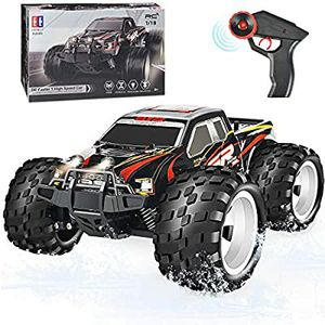 DOUBLE E RC Car 4WD Off Road Remote Control Car High Speed Monster Trucks for Boys with Head Lights Electric Vehicles for Boy Girls Kids, Red for Sale in Arlington, WA