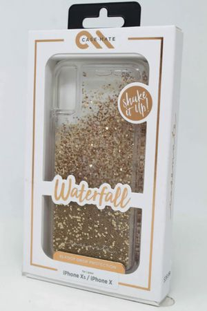 Waterfall Case for iPhone X & iPhone Xs - Gold Glitter for Sale in Abilene, TX