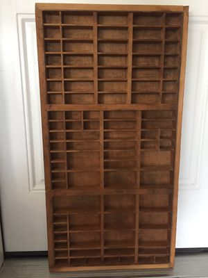 Wood Type Set Tray for Sale in Fairfield, OH