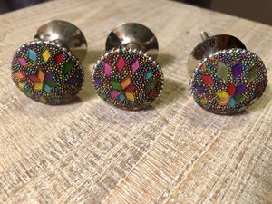 3 Multi-color Drawer Knobs for Sale in Spokane, WA