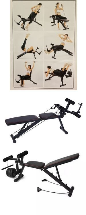 EXERCISE BENCH 🏋️♀️🏋️♂️ - BRAND NEW - WORKS YOUR ENTIRE BODY - MULTIFUNCIONAL BENCH for Sale in Glendale, CA