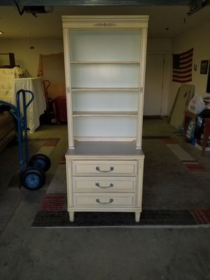 Solid wood French provencal 3 drawer hutch for Sale in Selma, CA
