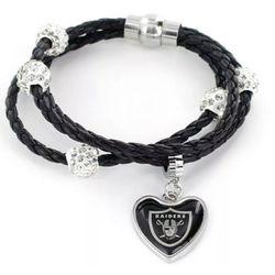 Las Vegas Raiders Braided Cords Bracelet for Sale in Baldwin Park,  CA