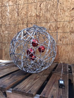 Prelit outdoor silver spheres Christmas decor for Sale in Anaheim, CA