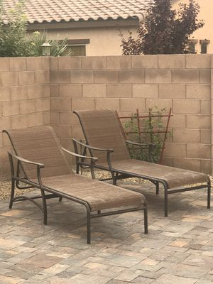 Patio Lounge Chairs Chaise Outdoor Furniture -Two or Four for sale for Sale in North Las Vegas, NV