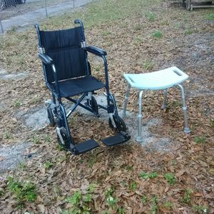 17-in Wheelchair And Shower Stool for Sale in St. Petersburg, FL