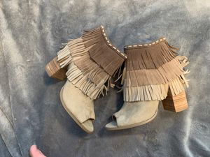 SIZE 6- report fringe booties for Sale in Renton, WA