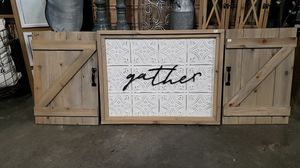 Gather Sign w/ Barn Doors for Sale in Battle Ground, WA