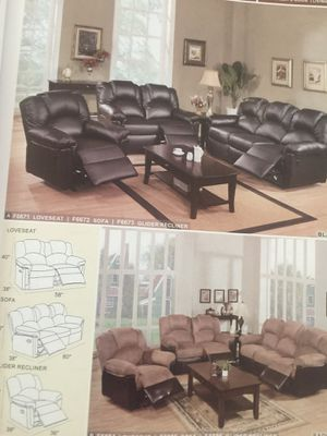 SOFÁ And LOVE DOBLE RECLINER for Sale in Hialeah, FL