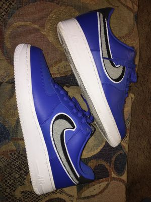 Nike Air Force 1 Blue & White (Size 10.5) for Sale in Evansville, IN
