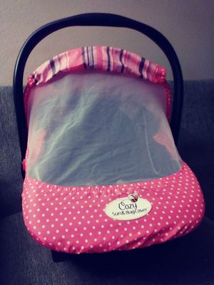 Cozy Sun and Bug Baby Car Cover (Pink Stripe) for Sale in Orange, CA