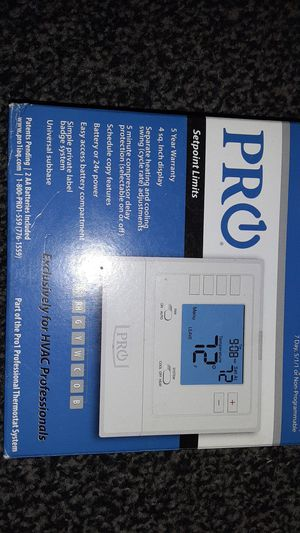Pro t705 7 day programmable thermostat for Sale in Cleveland, OH