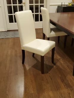 White Leather Dining Chairs - 10 Available for Sale in Seattle,  WA